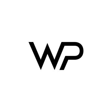 initials WP connected logo icon vector