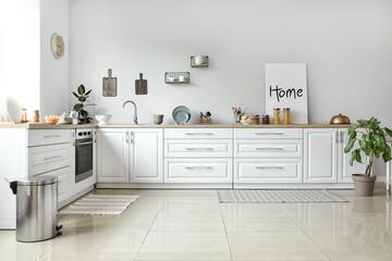 Fototapeta Stylish interior of modern kitchen obraz