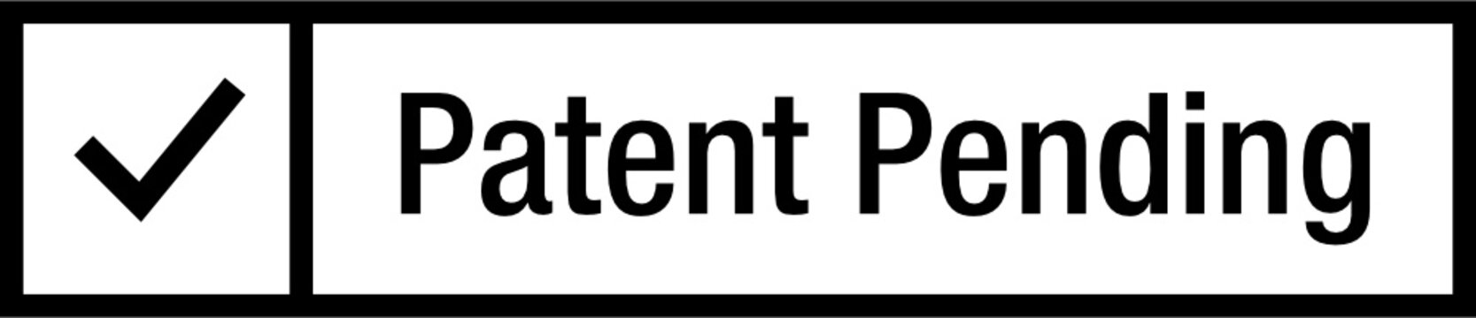 Patent Pending Check Stamp Icon Symbol
