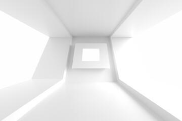 Fotobehang - Modern Architecture Wallpaper. White Minimal Texture