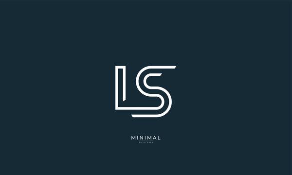 Alphabet letter icon logo LS
