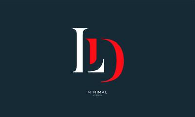 Obraz Alphabet letter icon logo LD - fototapety do salonu