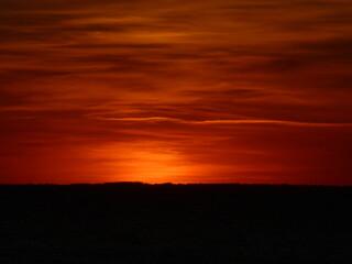 Fototapeten Violett rot Couché de soleil
