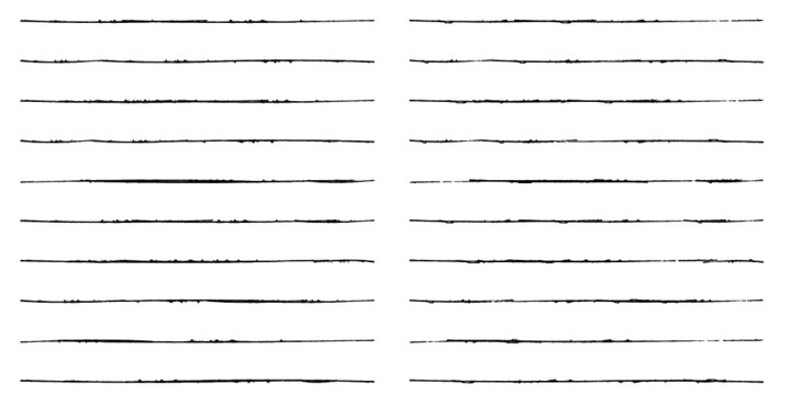 Brush Stroke Collection . Grunge lines . Vector stripes . Distressed Black dividers . set of dirty Textured shape .scratches for your design.