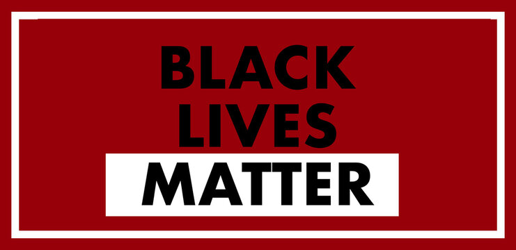 words black lives matter against a red background