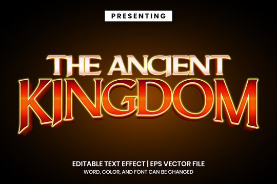 Editable text effect - ancient vintage game logo style