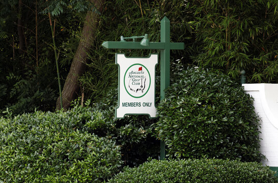 Augusta, GA, USA - May 15, 2015: An entrance to the Augusta National Golf Club in Augusta, Georgia. The Augusta National Golf Club is a private country club and home to the annual Masters tournament.