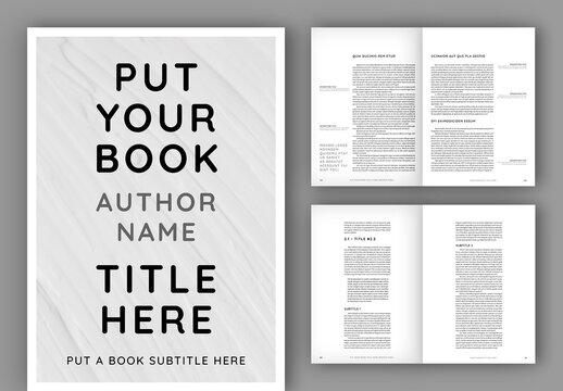 Minimalist Book Layout