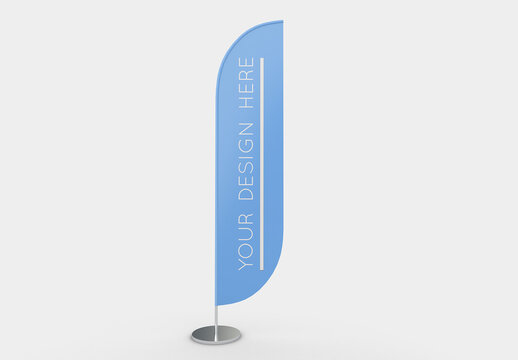 Advertising Flag Mockup with Editable Background