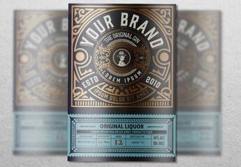 Vintage Liquor Label Packaging Layout