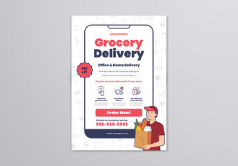 Grocery Delivery Flyer Layout