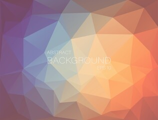 Flat pastel color triangle geometric wallpaper
