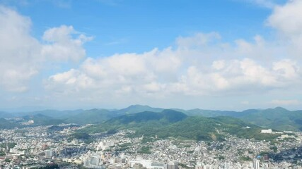 Wall Mural - 都市風景 長崎市 ノーマルスピード