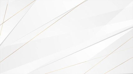 Grey corporate background with golden lines