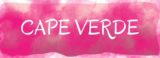 Foto auf Acrylglas Rosa web Label Sticker Cape Verde