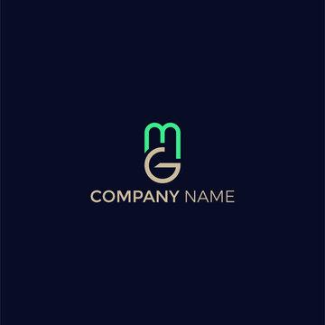 MG or GM Modern Business Logo vector