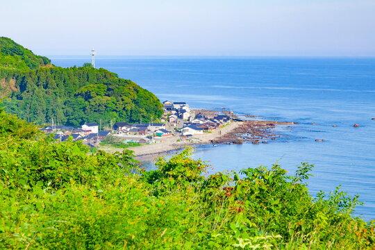 大谷峠から眺める石川県珠洲市大谷の集落