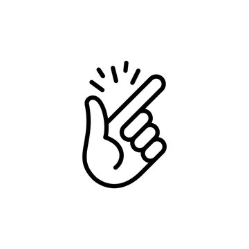 Hand gesture is easy, snap your fingers. Vector isolated icon.