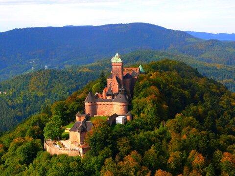 Europe, France, Great East, Alsace, Bas Rhin, Haut Koenigsbourg castle