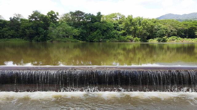 weir, check dam at canal thailand