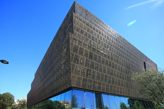 WASHINGTON,USA;OCT 21:outlook of National Museum of African American History and Culture, was opened in this year in Washington on 21 October 2016. It contain 37000 objects related to african american