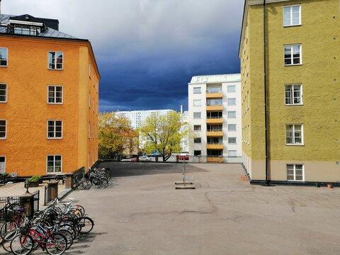 Buildings in Solna, Sweden.