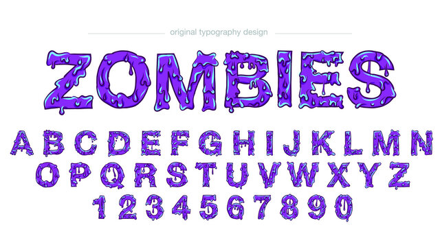 Purple Dripping Halloween Toxic Text Effect