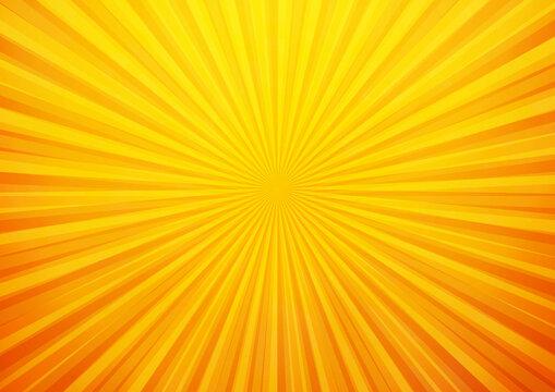 Bright orange and yellow rays background
