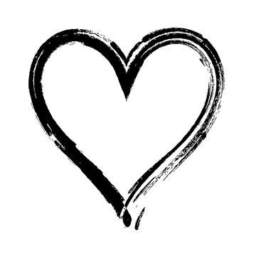 Hand drawn Heart vector illustration  - calligraphy