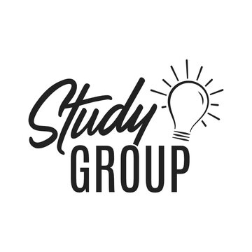 Study Group Idea Lightbulb, Small Group, Bible Study, Logo Vector Illustration Background Banner