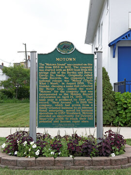 Detroit, MI, USA - July 31, 2014: The first Motown headquarters in Detroit. Motown is an American record label primarily associated with African-American pop, soul and R&B music.