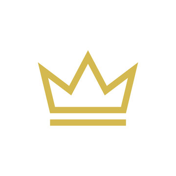Crown Icon Vector Logo Design Template