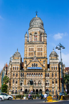 Mumbai India Nov 9th 2019: The Municipal Corporation Building, Mumbai, located in South Mumbai is a Grade IIA heritage building opposite to the Chhatrapati Shivaji Terminus, one of list of heritage.