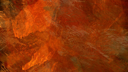 Poster Cuban Red Abstract painting brush stroke texture rock nature geological underwater atmospheric landscape illustration background