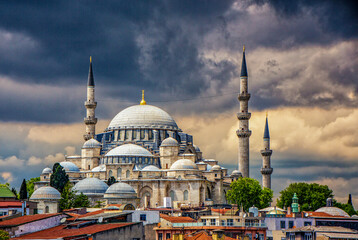The Blue Mosque in Istanbul is a major tourist attraction, and was built between 1609 and 1616