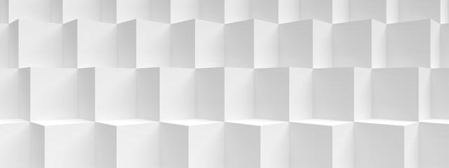 Fotobehang - Modern Construction Wallpaper. White Minimalistic Texture
