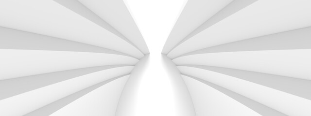 Fotobehang - Abstract Hall Background. White Curved Texture
