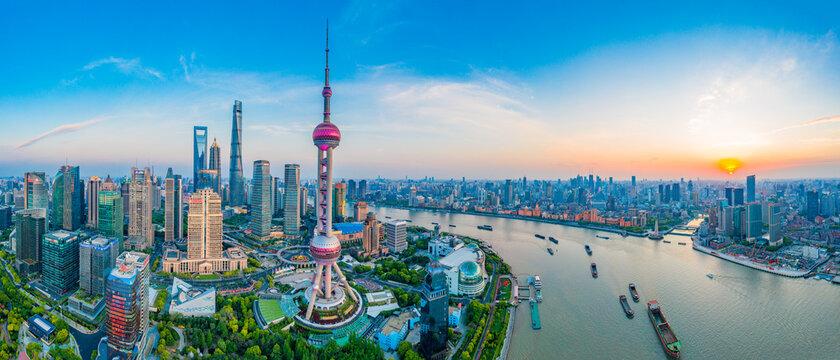 The city scenery of Shanghai, China