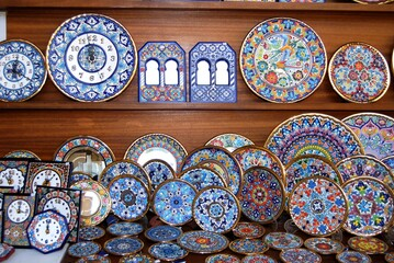 Display of local pottery, Cordoba, Spain.