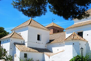 View of the Church of The Immaculate Conception, Mijas, Spain.