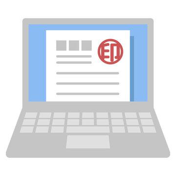 電子印鑑(ノートパソコン)