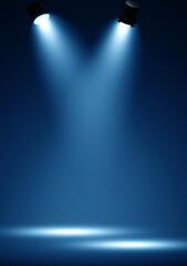 Spotlights illuminate empty stage - fototapety na wymiar