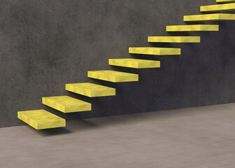 Stairs 3d rendering background