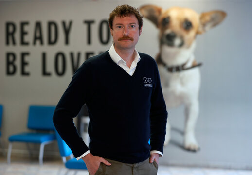 Steve Craddock, Centre Manager, poses for a photograph at Battersea Dogs and Cats Home, in London