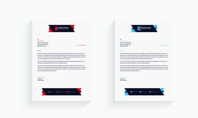 Creative and Clean letterhead Template design,Business style letter head templates