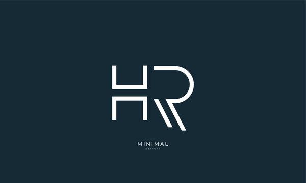 Alphabet letter icon logo HR