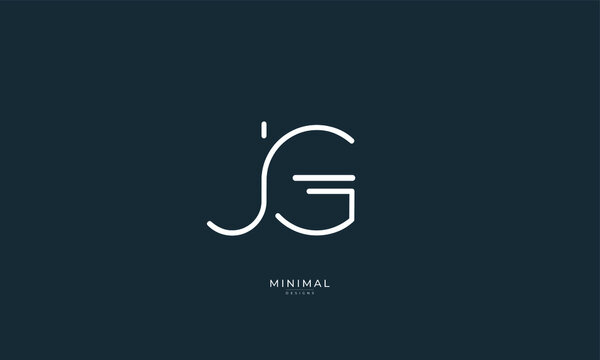 Alphabet letter icon logo JG