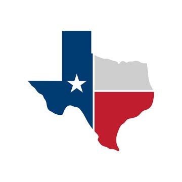 Texas map icon. Vector illustration - Vector