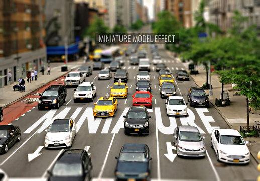 Miniature Model Effect Mockup