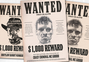 Wanted Poster Layout